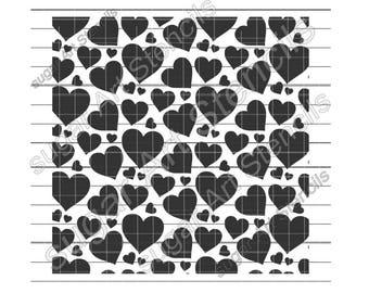 Hearts cookie stencil background Valentine's day NY0132