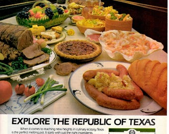 "1984 Texas travel vintage magazine ad ""See the Republic of texas""  1705"