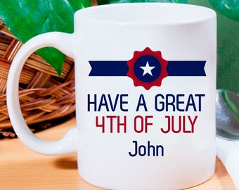 Have a Great 4th of July Beautifully Personalized Decorative Mug