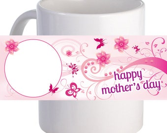 "Personalized ""Happy Mother's Day"" Beautiful Coffee Mug Custom Image"