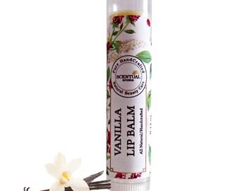 Organic Vanilla Lip Balm, Gift Idea