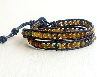 Mixed natural stone bracelet