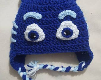 PJ Masks inspired Catboy crocheted hat