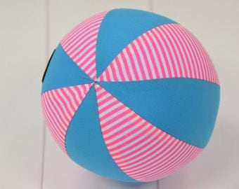 Balloon Ball Baby, Balloon Cover, Balloon Ball, Ball, Kids, Pink Aqua Stripes , Portable Ball, Travel Toy, Travel, Eumundi Kids, Eumundi