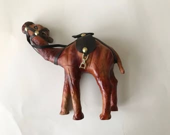 Leather Camel Statue