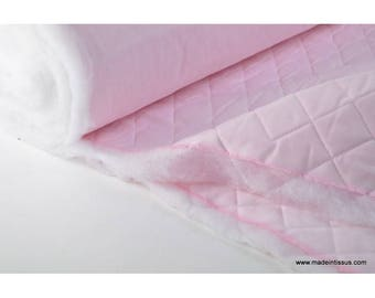 Quilted pink cotton diamond double-sided