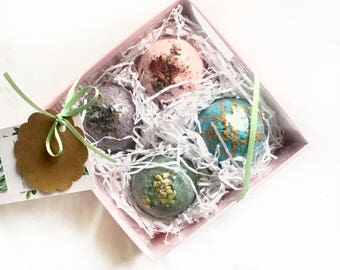 Mothers Day Gift Set | Bath Bombs | Gift for Mom | Gift Ideas for Her | Thank You Gift | Bath Fizzies | Spa Gift Set