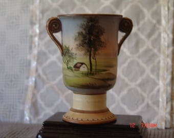 Nippon Vase with Scenic View