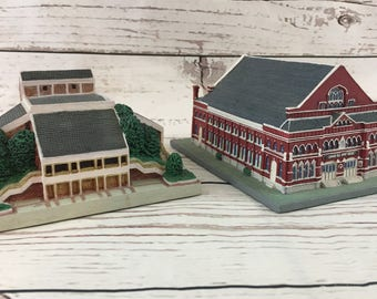 Danbury Mint Grand Ole Opry Houses, Set of 2, Collectible Replica, 1 Grand Ole Opry & 1 The New Grand Ole Opry, 1994, Ryman Auditorium