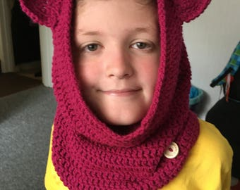 Kids hooded cowl