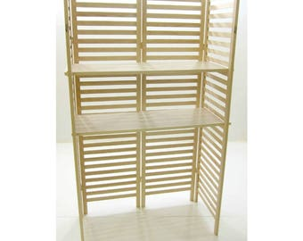 Extra Wide Four Panel Display Unit - Ships UPS - No Tools Needed For Assembly Includes (2) Wide Shelves