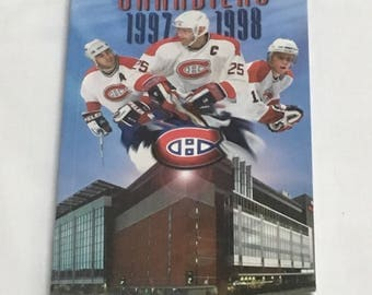 Montreal Canadiens 1997-1998 Yearbook NHL