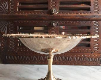 Vintage Silver Plate Pedestal Bowl-USA Oneida
