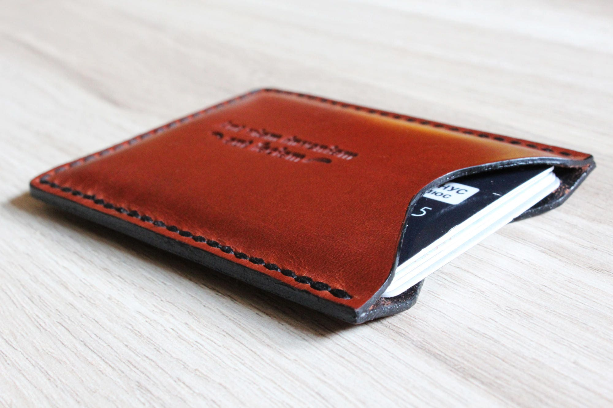 Leather card holder Groomsmen t set Coworker t Personalized
