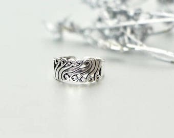 Indian Toe Ring, Engraved Toe Ring, Adjustable Toe Band, Minimalist Toe Ring, Gift under 10, Boho Style, Feet Jewelry, Modern Jewelry (TS21)