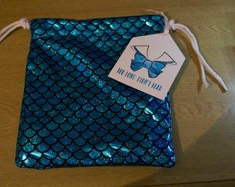 Mermaid Draw String Wash Bag // Makeup Bag // Toiletries Storage //