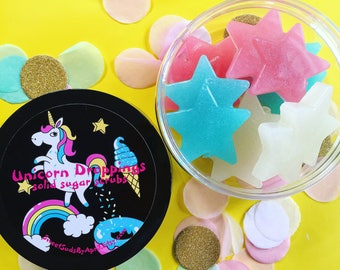 Unicorn Droppings Solid Sugar Scrub - Sugar Scrub Soap - Unicorn Lovers!