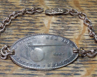1939 New York World's Fair ID Style Bracelet