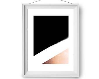 Copper Print, Black & White Art, Modern Art, Scandinavian Wall Art, Geometric Print, Color Block Art, Wall Decor, 22x28 in, A2, Print Avenue