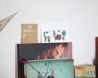 Postcard illustration card green plants