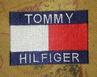 TH TH85 Tommy Hilfiger Logo Embroidery Iron on Label Patch Cap T Shirt Jacket Bag diy