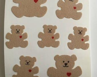 Vintage Rare Fuzzy Teddy Bear Maxi Sheet