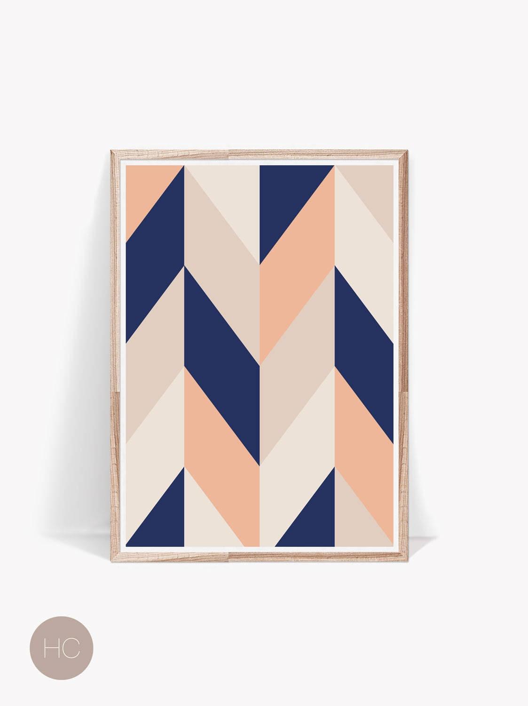 Geometric print minimalist wall decor scandinavian print for Minimalist wall design