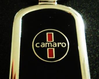 Chevrolet Camaro Black Onyx & Silver Keychain-Free Engraving