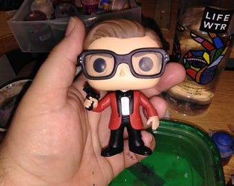 Custom Eggsy in red tux Funko Pop from Kingsman 2 the Golden circle