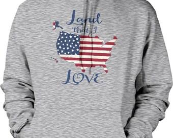 Land That I LOVE, USA PRIDE Hooded Sweatshirt, NOFO_01073