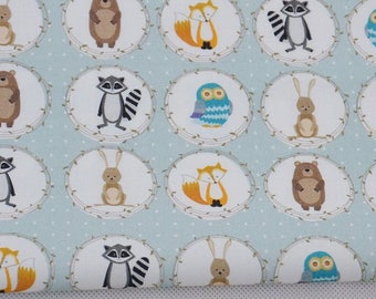Fabric 100% cotton a half metre 50 x 160 cm, animal print 100% cotton