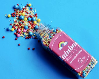 Rainbow Sprinkle Mix/ Rainbow/ Sprinkle mix/ cake decorating/ sprinkles/ baking/ cupcakes/ cakes/ gifts for girls/ gifts for her/ colourful