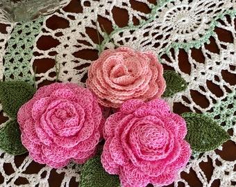 Custom flower tieback