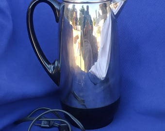 """Retro 80's Farberware """"Superfast"""" 2-12 Cup Electric Coffee Percolator Model 142"""