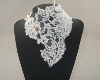 Bridal lace ivory and chocolate lace Ecru