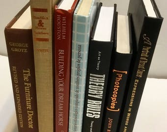 Lot of 7 hardcover books, great props, easy staging, den, office, not ex-library