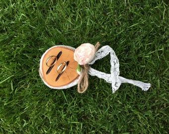 Ring holder ring pillow wood wedding ring holder