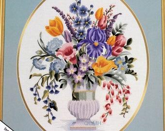 Elsa Williams LILY'S BOUQUET Crewel Embroidery Kit Michael A LeClair Iris Tulip Etc