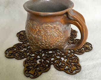 Sepia Toned Doily Mug