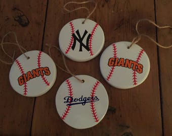 Baseball ornaments