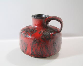 Fab vase by Gräflich Ortenburg'sche West German Pottery, WGP Fat Lava, 619