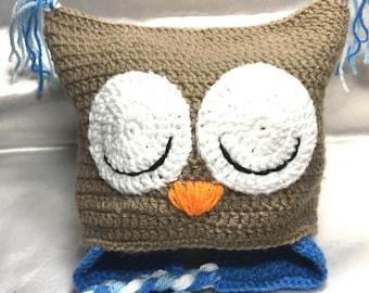 "Peruvian ""Sleepy OWL"" kid's Beanie in acrylic"