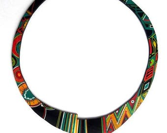 inner tube recycled KHAO208 necklace