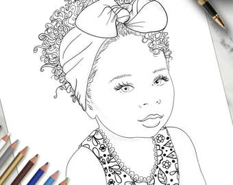Printable Colouring Page Little Angel