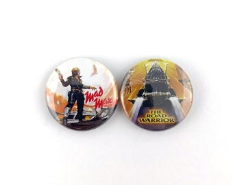 """Mad Max / The Road Warrior Mini-Poster Collection - 1"""" Button Pin Set"""