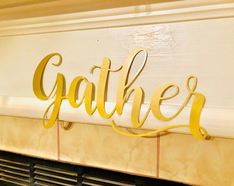 Gather Metal Word Art