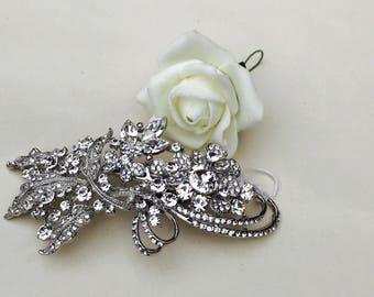 Crystal hairpiece, wedding hairpiece, bridal hair accessory, bridesmaid hairpiece, wedding headpiece, bling hairpiece