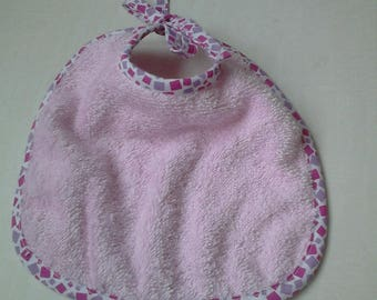 Pink Terry bib for baby