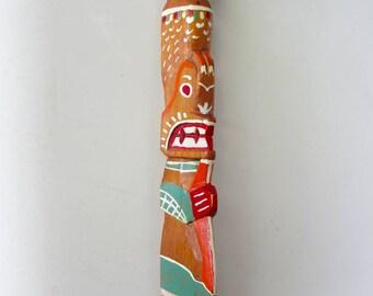 Vintage Souvenir of Canada Totem Pole Pacific Northwest Canadiana Tourist Art Shabby Ch