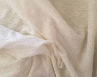"Hemp Organic cotton jersey knit natural PFD 5oz per yard 52"" wide"